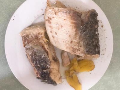Cá sau khi đã được hấp chín