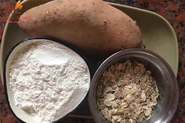 Bánh yến mạch khoai lang