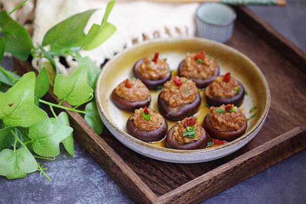 nấm hương nhồi thịt