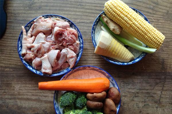 cách nấu canh gà rau củ