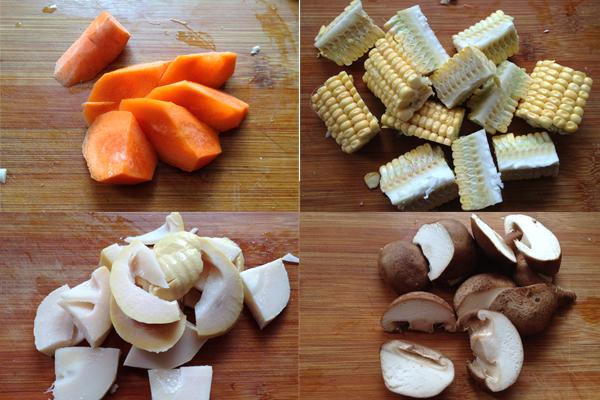 Cách làm gà nấu rau củ