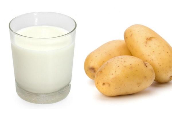 Nguyên liệu làm khoai tây sữa