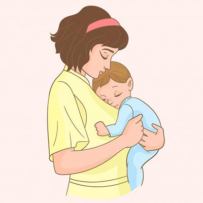 Mẹ hãy tích cực ôm ấp bé