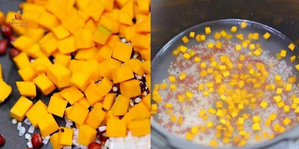 Cháo bí đỏ quinoa