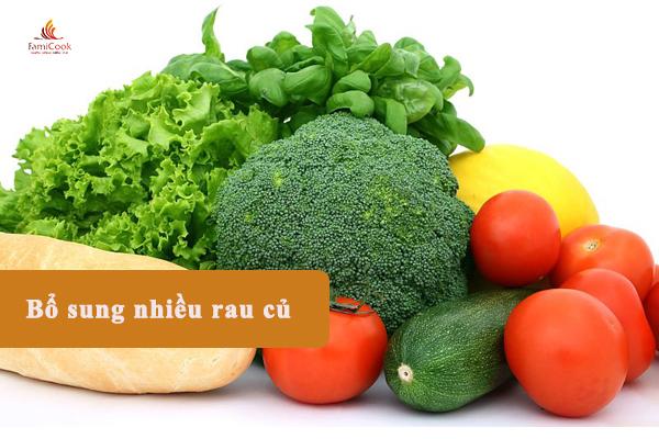 thực đơn bổ sung nhiều rau củ