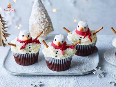 Bánh cupcake người tuyết