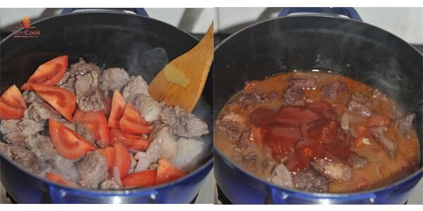 Bò hầm cà chua