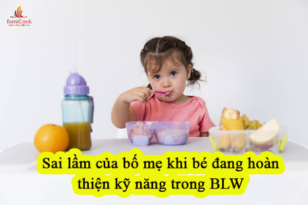 sai lầm trong ăn dặm BLW