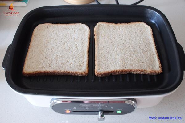 Cách làm bánh mì kẹp tôm