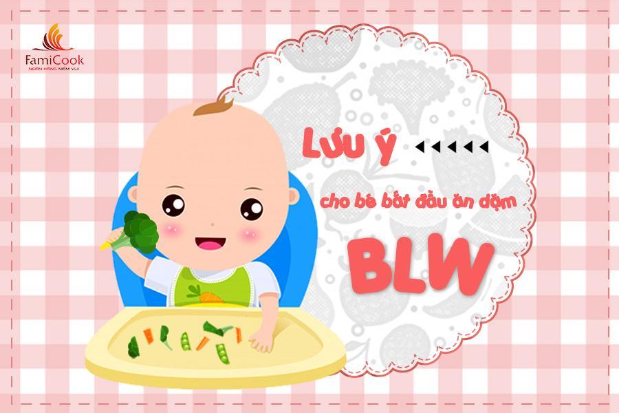 Lưu ý khi bắt đầu cho bé ăn dặm BLW