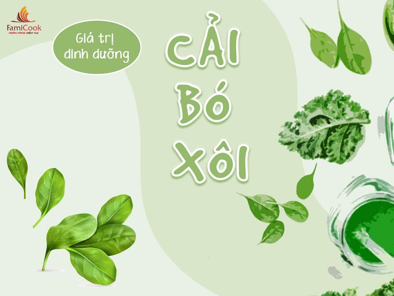 lợi ích sức khỏe của rau cải bó xôi