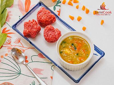 Cơm đỏ cà ri đậu lăng
