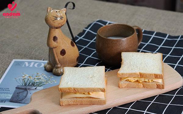 bánh mì sandwich nhanh gọn cho bữa sáng